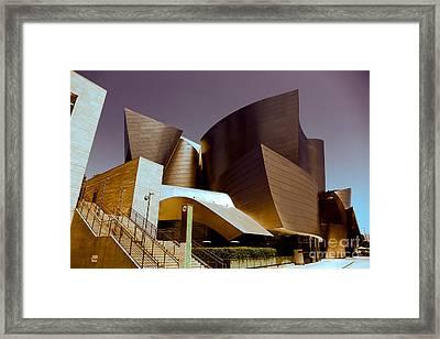 Disney Music Hall I Framed Print by Chuck Kuhn