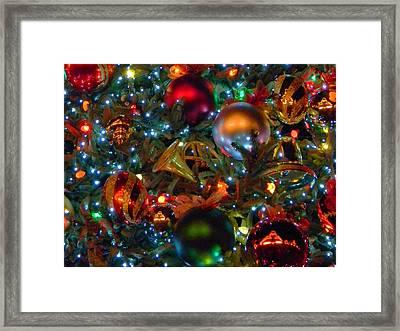 Disneyland Christmas Ornaments Framed Print by Daniel Dodd
