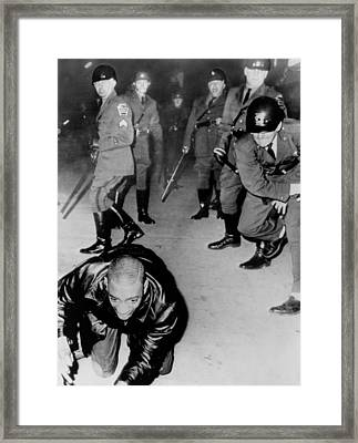 Disorder In Birmingham Of The North Framed Print by Everett