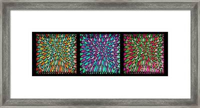 Disperse Color Tones Framed Print by Ankeeta Bansal