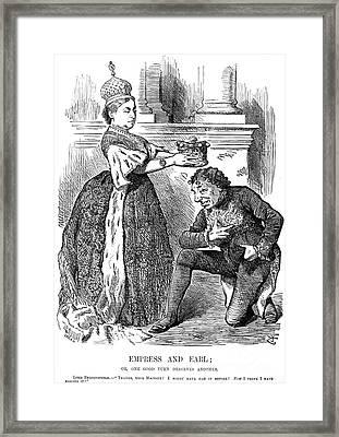 Disraeli Cartoon, 1876 Framed Print