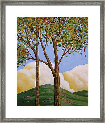 Distant Clouds Framed Print