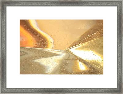 Distant Horizon Abstract Framed Print