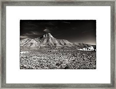 Distant Peak Framed Print by John Rizzuto