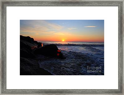 Framed Print featuring the photograph Distant Shore by Everett Houser