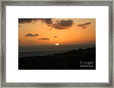 Distant Sunset Framed Print