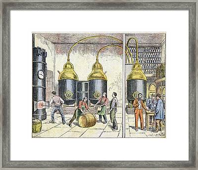 Distillery, 19th Century Framed Print by Cci Archives