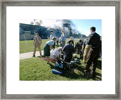 District Of Columbia Fire And Emergency Framed Print by Everett