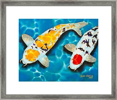 Ditsu Koi Framed Print by Daniel Jean-Baptiste