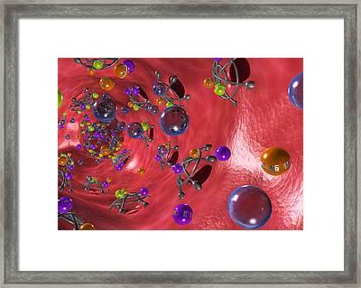 Diuretic Effect, Computer Artwork Framed Print by David Mack