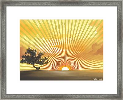 Diva's Sunset Framed Print