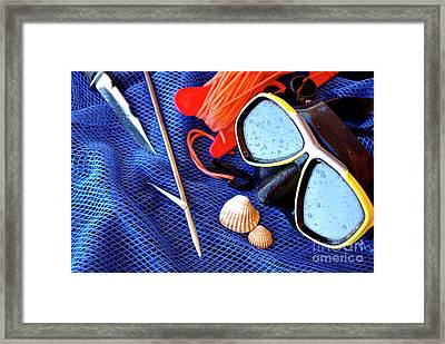 Dive Gear Framed Print by Carlos Caetano