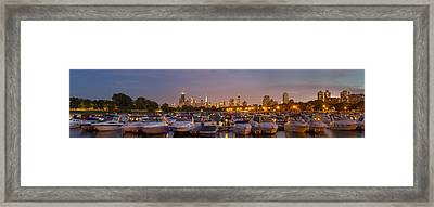 Diversey Harbor And Chicago Skyline Framed Print by Twenty Two North Photography