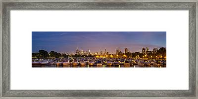 Diversey Harbor At Dusk Framed Print by Twenty Two North Photography