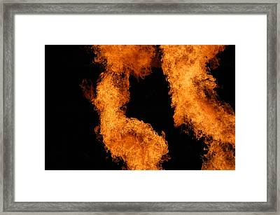 Divine Fire Framed Print by Michelle Visconti