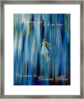 Divine Flow Framed Print by The Art With A Heart By Charlotte Phillips
