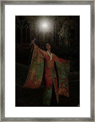 Framed Print featuring the painting Divine Light by Maynard Ellis