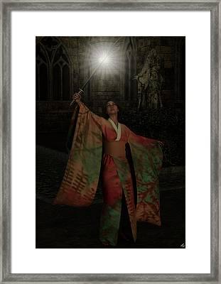 Divine Light Framed Print by Maynard Ellis