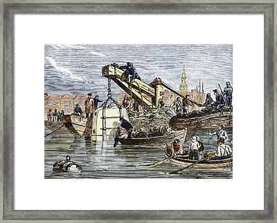 Diving Bell Use Framed Print by Sheila Terry