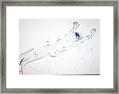 Diving Framed Print by Gloria Ssali