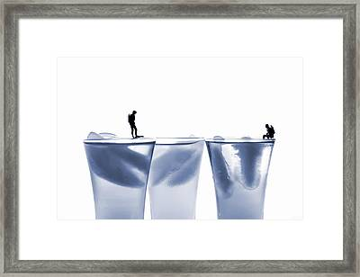 Diving In Ice Water Framed Print