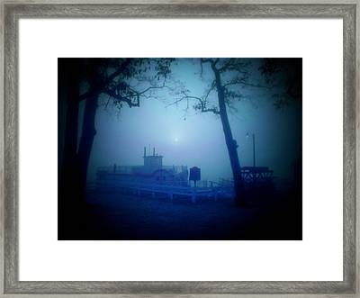 Dixie Boat Fog By Cell Phone Framed Print by Michael L Kimble