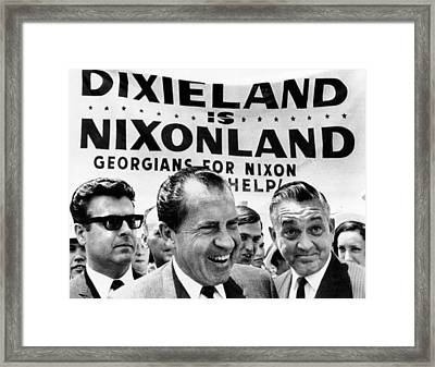 Dixieland Is Nixonland, Reads A Big Framed Print by Everett