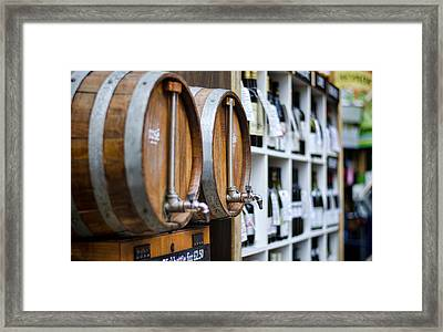 Diy Wine Framed Print by Heather Applegate