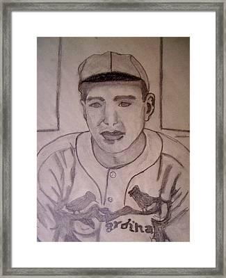 Dizzy Dean Cardinals Pitcher Framed Print by De Beall