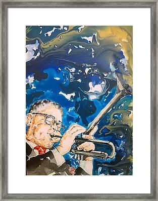 Dizzy Gillespie Framed Print by Omar Javier Correa