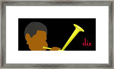 Dizzy Gillespie Framed Print by Victor Bailey