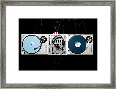 Dj Equipment Framed Print by Caspar Benson