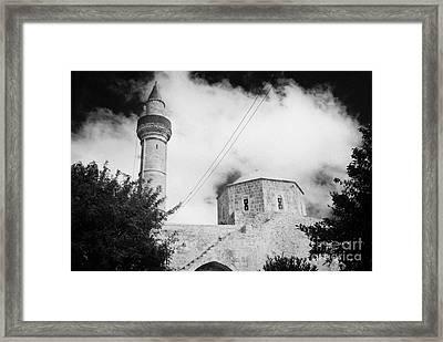 Djami Kabir Mosque In Paphos Republic Of Cyprus Europe Framed Print