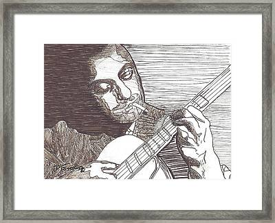 Django Framed Print by David Fossaceca