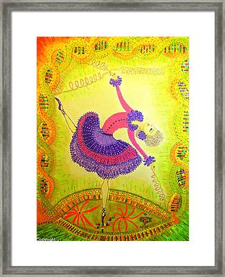 Framed Print featuring the painting Dna Dancer by Marie Schwarzer