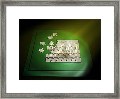 Dna Jigsaw Framed Print by Christian Darkin