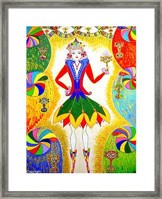 Framed Print featuring the painting Dna Woman-eternal Life by Marie Schwarzer