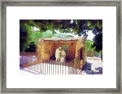 Do-00500 St Rafqa Statue Framed Print