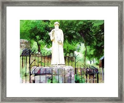 Do-00541 St Charbel Statue Framed Print