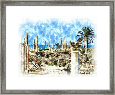 Do-00550 Ruins And Columns Framed Print