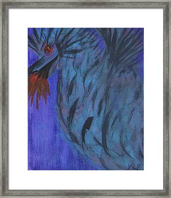 Do Not Dare The Dragon Framed Print by Nancy Pace
