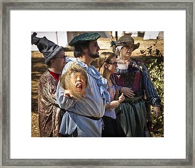 Do Not Lose Your Head Framed Print