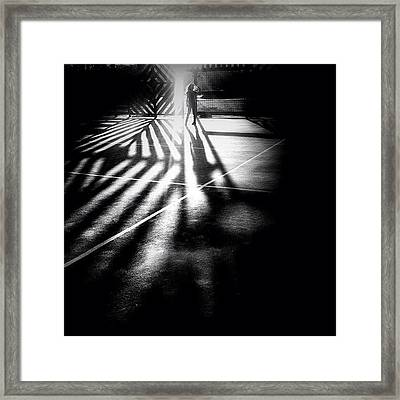 Do You See Darkness Or Light Framed Print