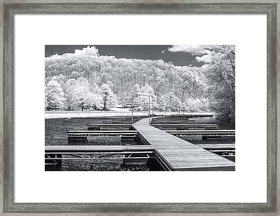 Framed Print featuring the photograph Dock In Infrared by Mary Almond