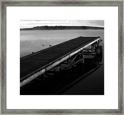 Dock Framed Print by Jerry Cordeiro
