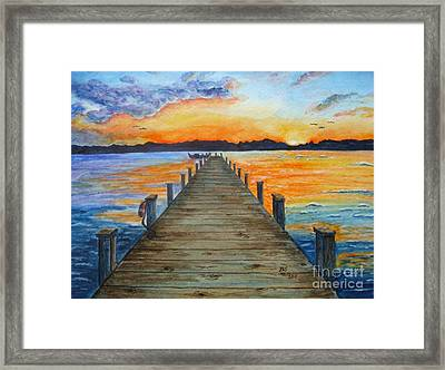 Dock Of The Bay Framed Print by Bonnie Schallermeir
