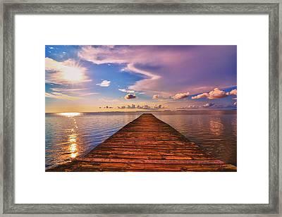 Dock Of The Bay Framed Print by Kelly Reber