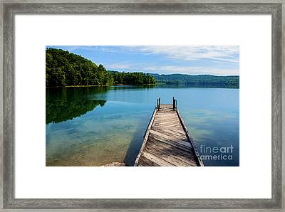 Dock On Summersville Lake Framed Print