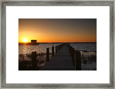 Dock On The Bay Framed Print by Steven Ainsworth