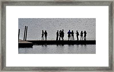 Dock Party Framed Print by Lisa Plymell